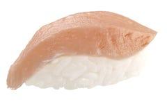 Sashimi tradicional del sushi en el fondo blanco Fotos de archivo