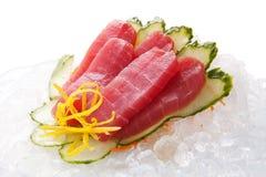 Sashimi tradicional do sushi em um fundo branco Imagens de Stock Royalty Free