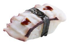Sashimi tradicional do sushi no fundo branco Fotos de Stock