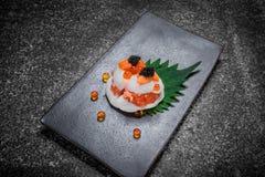 Sashimi traditionnel de la nourriture japonaise Image libre de droits
