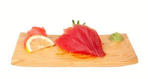 Sashimi with tuna isolated on white Stock Image