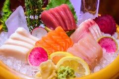 Sashimifischservierplatte Lizenzfreie Stockfotografie