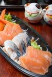 Sashimisatz der rohen Meeresfrüchte Lizenzfreies Stockfoto