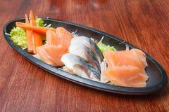 Sashimisatz der rohen Meeresfrüchte Lizenzfreie Stockfotos