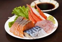 Sashimisushi-Japaner-Küche Lizenzfreie Stockfotografie