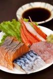 Sashimisushi-Japaner-Küche Stockbilder