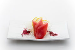 sashimy tonfisk Arkivbild
