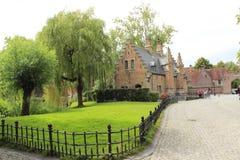 Sashius hus Bruges Belgien Royaltyfria Foton