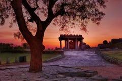 Sasivekalu Ganesha Temple. Ganesha temple at Hemakuta Hill in Hampi royalty free stock photo