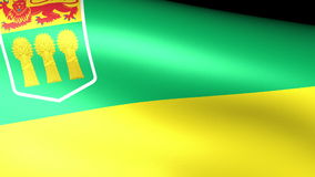 Saskatchewan Flag Waving stock video footage