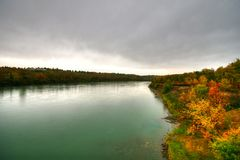 Saskatchewan flod Royaltyfri Fotografi