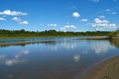 Saskatchewan-Fluss im Sommer lizenzfreie stockfotografie