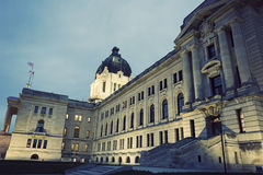 Saskatchewan-Gesetzgebungsgebäude in Regina Lizenzfreies Stockfoto