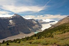 Saskatchewan Glacier. Viewed from famus Parker Ridge Trail Royalty Free Stock Photo