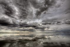 Saskatchewan Lakereflexion Royaltyfria Bilder