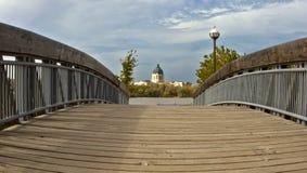 Saskatchewan Legistralive Building. Bridge leading to the Saskatchewan Legislative Building in Regina Stock Photo