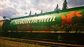 Saskatchewan linii kolejowej samochód Obrazy Stock