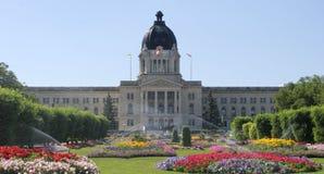 Saskatchewan Parliament, Regina. Saskatchewan Parliament with garden in the foreground, Regina, Canada Stock Photo