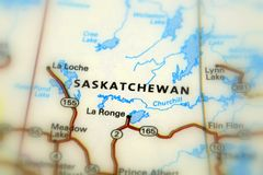 Saskatchewan province, Canada. Saskatchewan, a prairie and boreal province in western of Canada selective focus Royalty Free Stock Images