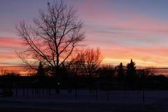 Saskatchewan Sun Set stock photo