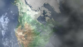 Saskatoon - Canada Zoom In From Space stock footage
