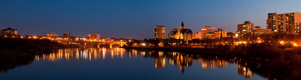 Saskatoon panorama Royalty Free Stock Images