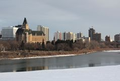 Saskatoon, Saskatchewan Skyline Stock Photography