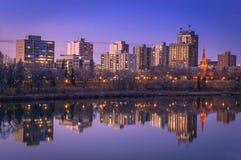 Saskatoon-Skyline stockbilder