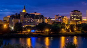 Saskatoon skyline Royalty Free Stock Photography