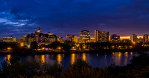 Saskatoon skyline Stock Photo