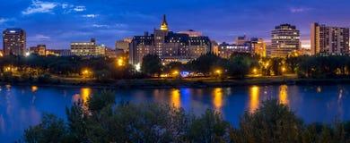 Saskatoon skyline Royalty Free Stock Photos