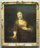 Saskia van Uylenburgh da Rembrandt Van Rijn Fotografia Stock Libera da Diritti