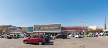Sasolburg-Mall, in Sasolburg in der Freistaat-Provinz lizenzfreies stockfoto
