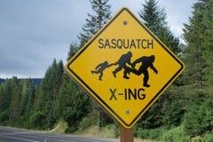 Sasquatch skrzyżowanie Zdjęcie Stock