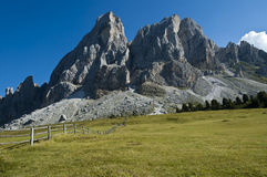 Sass de Putia, dolomías - Italia Fotos de archivo