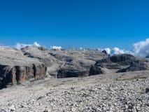 Sass Pordoi. Dolomites mountains, Italy Stock Images