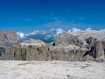 Sass Pordoi. Dolomites mountains, Italy Stock Photo