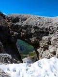Sass Pordoi. Dolomites mountains, Italy Royalty Free Stock Photography