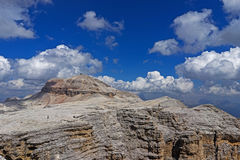 Sass Pordoi landscape. Dolomites landscape in north Italy, Sass Pordoi 2950mt piz Bo Royalty Free Stock Image