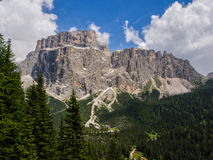 Sass Pordoi mount, Dolomites, Italy Royalty Free Stock Photo