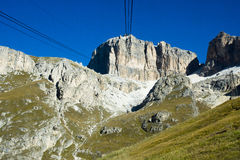 Sass Pordoi from Pass Pordoi, Italy Royalty Free Stock Image