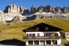 Sass Pordoi from Pass Pordoi, Italy Royalty Free Stock Photos