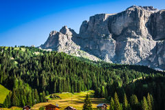 Sass Pordoi south face (2952 m) in Gruppo del Sella, Dolomites m Stock Image