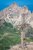 Sass Pordoi south face (2952 m) in Gruppo del Sella, Dolomites  Stock Image