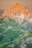 Sass Pordoi south face (2952 m) in Gruppo del Sella, Dolomites Royalty Free Stock Photo
