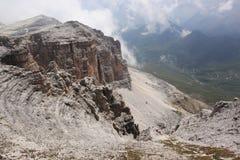 Sass Pordoi. The view from Sass Pordoi in Dolomites, Italy Royalty Free Stock Image