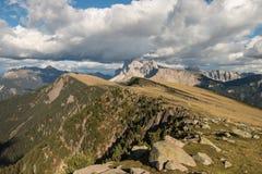 Sass Rigais range in Dolomites Royalty Free Stock Photos