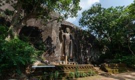 The Sasseruwa Buddha, Sri Lanka. The Sasseruwa Buddha, or Ras Veheranear, Near Avukana, Sri Lanka Royalty Free Stock Image