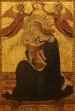 Sasseta Stefano di Giovanni di Consolo: Madonna och barn Fotografering för Bildbyråer