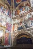 Sassetti kapell i basilikan av Santa Trinita i Florence intelligens Royaltyfri Fotografi